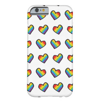 Rainbow Hearts LGBT Pride Barely There iPhone 6 Case