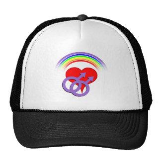 Rainbow Hearts Male Cap