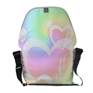 Rainbow Hearts Messenger Bag