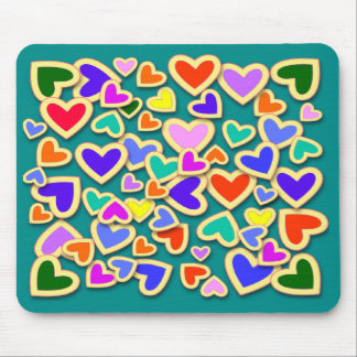 RAINBOW HEARTS  Mousepad