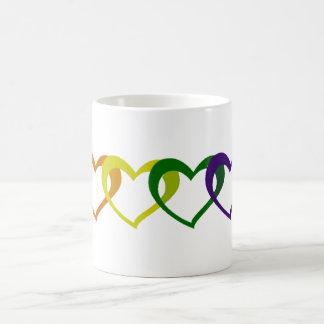 Rainbow Hearts Mugs