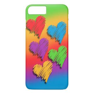 Rainbow Hearts Phone Case
