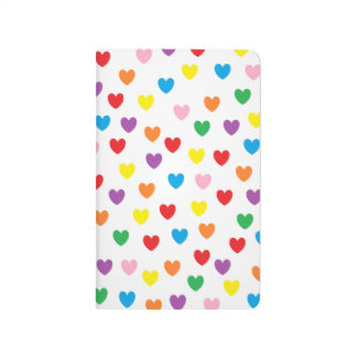 """Rainbow Hearts"" Pocket Journal"