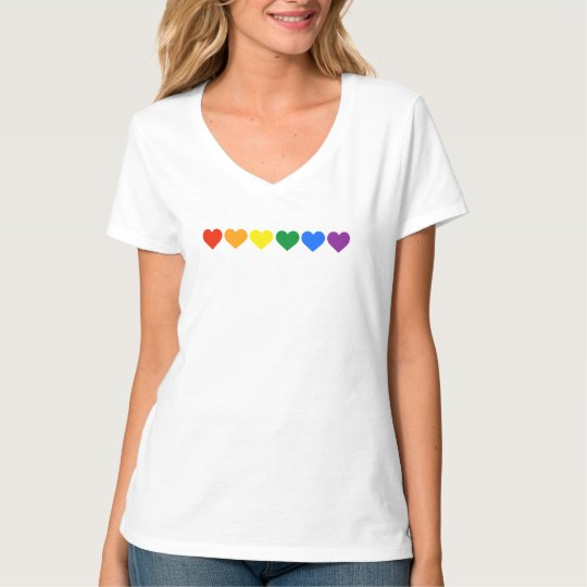 Rainbow Hearts Pride – Official Pride Colours T-Shirt