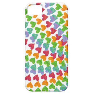 Rainbow Hearts Sprinkles Love Colorful iPhone 5 Barely There iPhone 5 Case