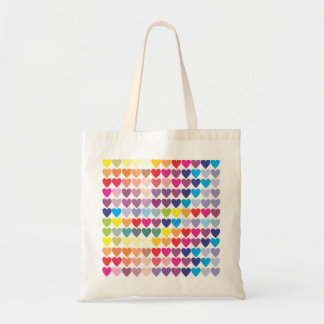 Rainbow Hearts Tote Bag