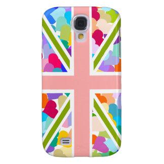 Rainbow Hearts Union Jack Galaxy S4 Case