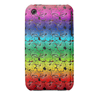 Rainbow Hibiscus Cover iPhone 3 Case-Mate Case