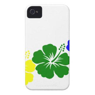 Rainbow hibiscus lei design iPhone 4 Case-Mate cases