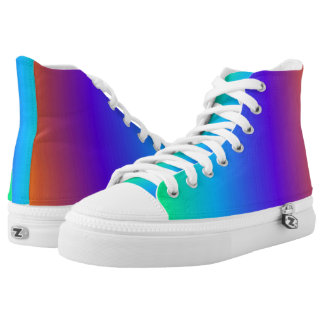 Rainbow High Tops Printed Shoes