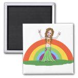 Rainbow Hippie Magnet