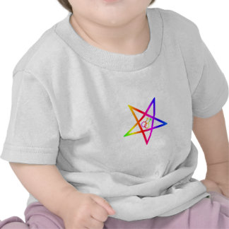 Rainbow Homosexual Male Inverted Pentagram Tee Shirts