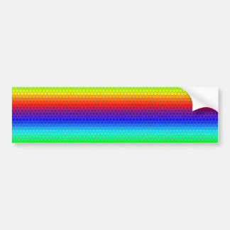 Rainbow honeycomb bumper sticker