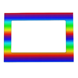Rainbow honeycomb frame magnetic picture frames