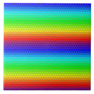 Rainbow honeycomb tile