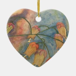 Rainbow honeysuckle flower ornament