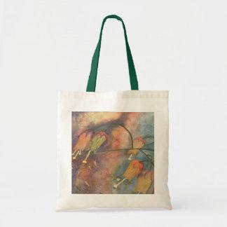 Rainbow honeysuckle flower tote bag