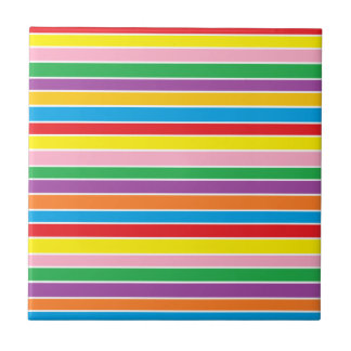 Rainbow Horizontal Stripes Tile