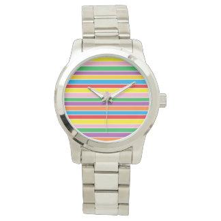 Rainbow Horizontal Stripes Watch