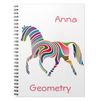 Rainbow horse design notebooks