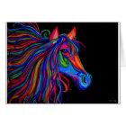 rainbow horse head card