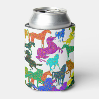 "Rainbow Horses - ""Dotty about Horses!"" Can Cooler"