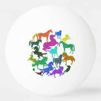 "Rainbow Horses - ""Dotty about Horses!"" Ping Pong Ball"