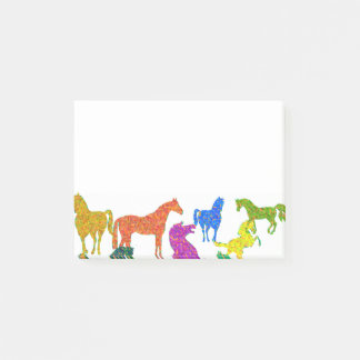 "Rainbow Horses - ""Dotty about Horses!"" Post-it Notes"