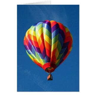 Rainbow hot air balloon card