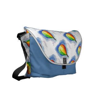 Rainbow Hot Air Balloon Courier Bag