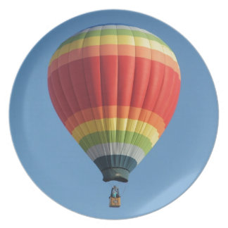 Rainbow Hot Air Balloon Plate