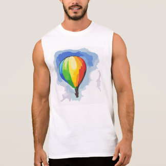Rainbow Hot Air Balloon Sleeveless Shirt