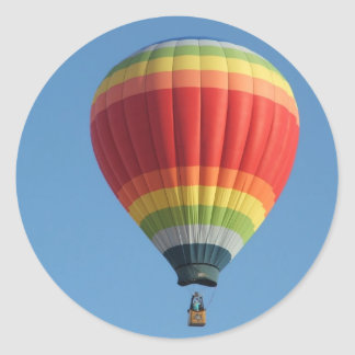 Rainbow hot air baloon stickers