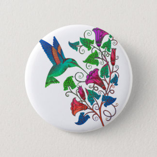 Rainbow Hummingbird 6 Cm Round Badge