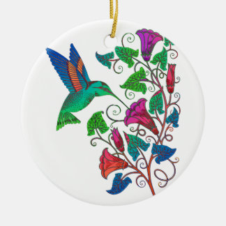 Rainbow Hummingbird Christmas Ornament