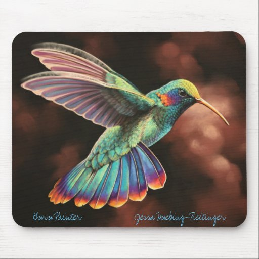 Rainbow Hummingbird Mousepad