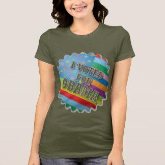 Rainbow I voted for Obama T-Shirt