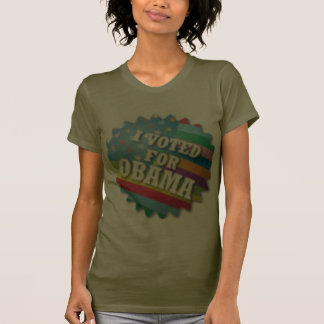 Rainbow I voted for Obama T-shirts