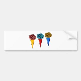 Rainbow Ice Cream Cones Bumper Sticker