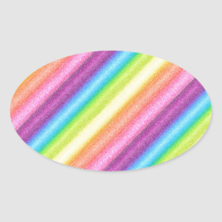 """Rainbow Ices"" Oval Stickers"
