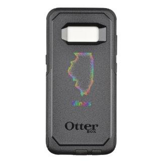 Rainbow Illinois map OtterBox Commuter Samsung Galaxy S8 Case