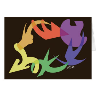 Rainbow Image Swirl: Note Card