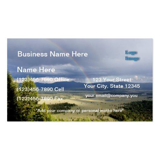 Rainbow in Grand Teton National Park Business Card Template