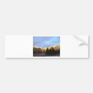 Rainbow in the Mountains Bumper Sticker