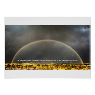 Rainbow in the Namibian Desert Poster