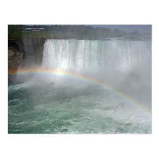 Rainbow In The Niagara Fall Postcard