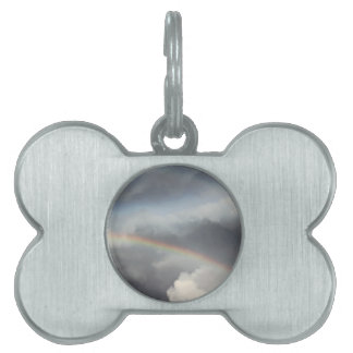 rainbow in the sky pet ID tag