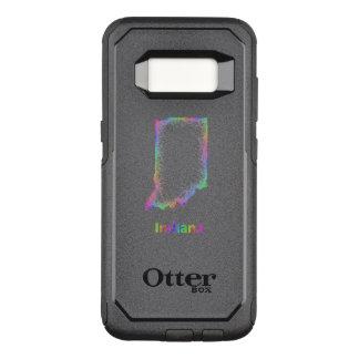 Rainbow Indiana map OtterBox Commuter Samsung Galaxy S8 Case