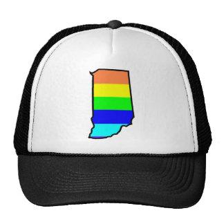 rainbow indiana mesh hat