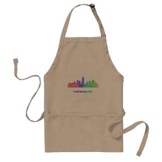 Rainbow Indianapolis skyline Standard Apron